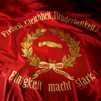 Sie ist der Stolz der Deutschen Sozialdemokratie. Die Fahne von 1863.